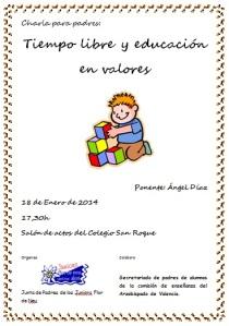 Cartel charla padres 2014