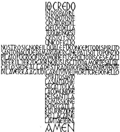 croce credo larghezza